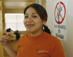 Luissana Santibanez has long been protesting the closing of Immigration detention centers