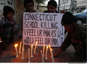 Kids in Pakistan express sympathy to Newtown, Ct victims