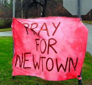 Let our prayers go beyond Newtown and touche very place ravaged by senseless violence