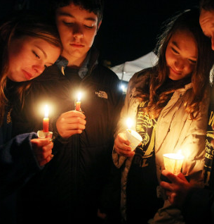 Newtown School shootings vigil