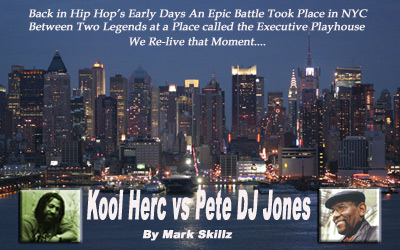 Logo Kool herc vs Pete Jones