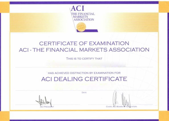 How to pass ACI Dealing Certificate