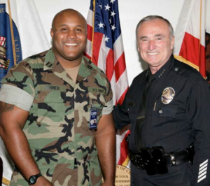 Christopher Dorner w/ Chief William Bratton