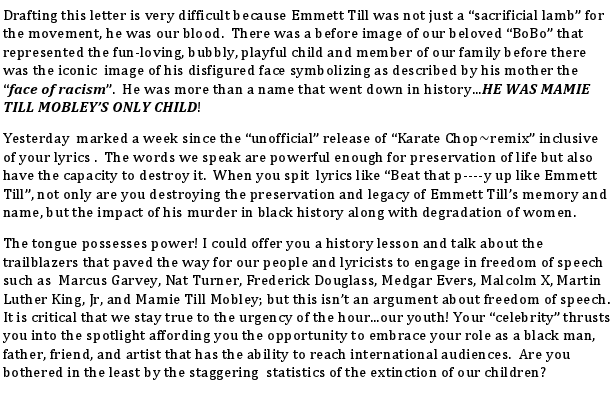 Emmit Till Letter