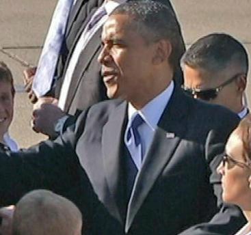 Brack Obama in San Jose