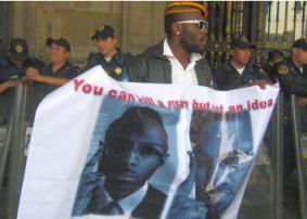 Protest for Malcolm Shabbazz